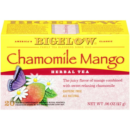 Mango Red Tea Tea - (4 Pack) Bigelow, Chamomile Mango, Tea Bags, 20 Ct