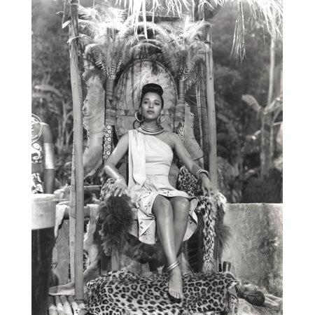 Dorothy Dandridge Seated in Classic with Amazon Attire Photo Print (Amazon Classic)