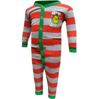 Dr. Seuss The Grinch Merry Grinchmas Infant Union Suit Pajamas