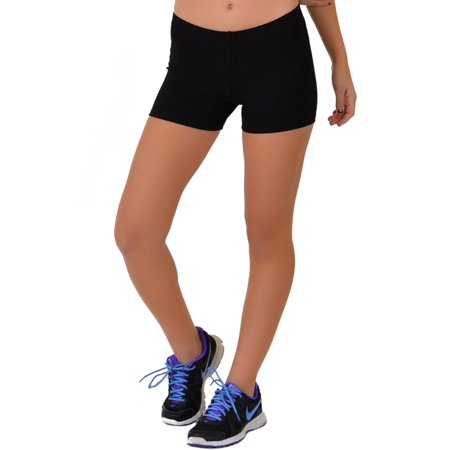 Women's COTTON Stretch Booty Shorts - Small (0-2) / Black