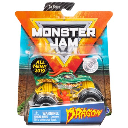 Monster Jam, Official Dragon Monster Truck, Die-Cast Vehicle, Crazy Creatures Series, 1:64 (Dragon Vehicle)