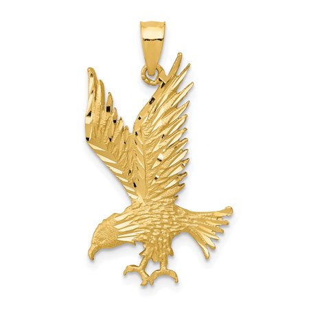 14k Yellow Gold Eagle Pendant Charm Necklace Bird Gifts For Women For Her