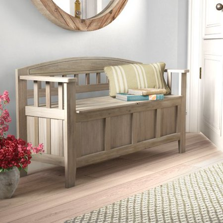 Wood Oak Storage Benches (Gracie Oaks Apruva Wood Storage)