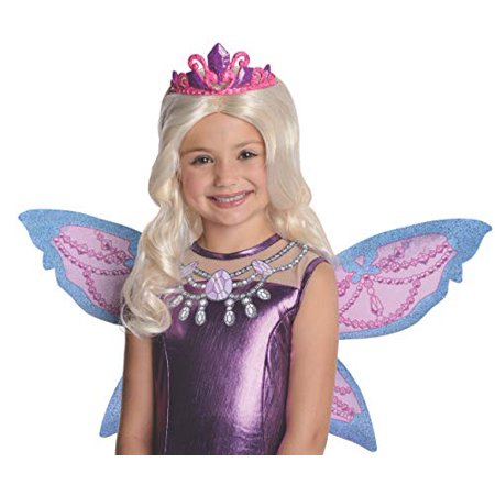 e6df4d460b6 Barbie Fairytopia Mariposa and Her Butterfly Fairy Friends Mariposa  Barbie's Catiana Wig with Attached Tiara Costume