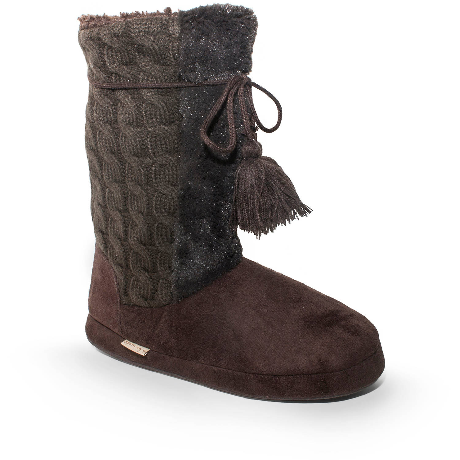 MUK LUKS Women's Cable Jewel Slipper
