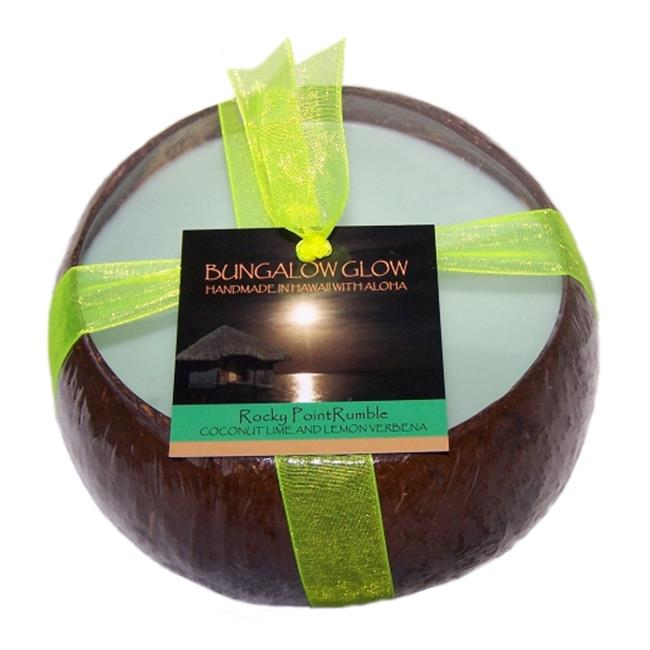 Bubble Shack Hawaii 492773501448 Rocky Point Rumble Coconut Candles - Pack of 2