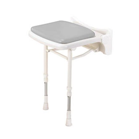 ARC Inc 02000P 2000 Series Shower Seat Compact Padded Seat - Gray - 15 Inch W
