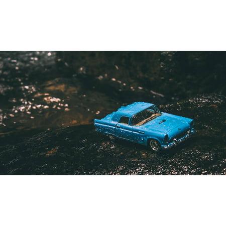 LAMINATED POSTER River Rocks Wet Land Travel Vehicle Car Poster Print 24 x