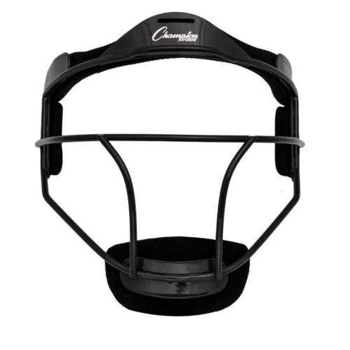 Champion Sports Softball Fielders Face Mask - Adult, Black