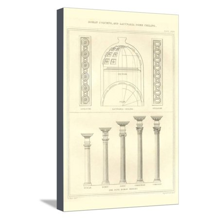 Roman Columns and Dome Ceiling Stretched Canvas Print Wall Art By Richard Brown](Roman Colums)