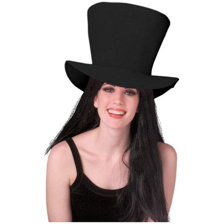 Foam Fabric Top Hat Adult Costume Accessory Black](Fish Head Costume Hat)