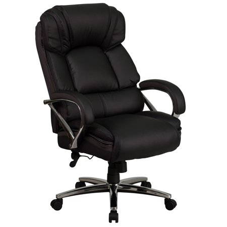 500 Base Unit - Lancaster Home HERCULES Series Big & Tall 500 lb. Rated Bonded Leather Executive Swivel Chair with Chrome Base and Arms
