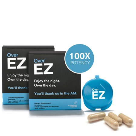 Over EZ Liver Detox Pill, Milk Thistle, NAC, N-Acetyl Cysteine, DHM - image 9 of 12