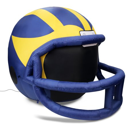NCAA Michigan Wolverines Team Inflatable Lawn Helmet, Blue, One Size (Inflatable Helmet)