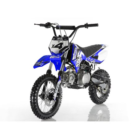 Blue Apollo DB-X4 RFZ 110cc RACING DIRT BIKE, 4 Stroke Air Cooled, Single