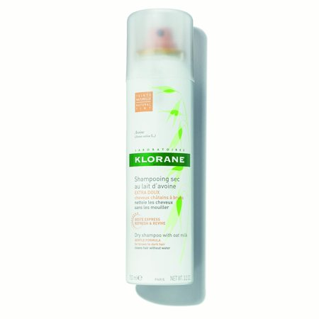 Klorane Dry Shampoo with Oat Milk, Natural Tint, 3.2 Oz
