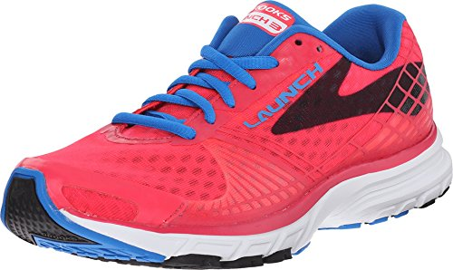 Brooks Women's Launch 12 3 Myla Pink/Electric Blue Lemonade/Black Sneaker 12 Launch B (M) d7b053