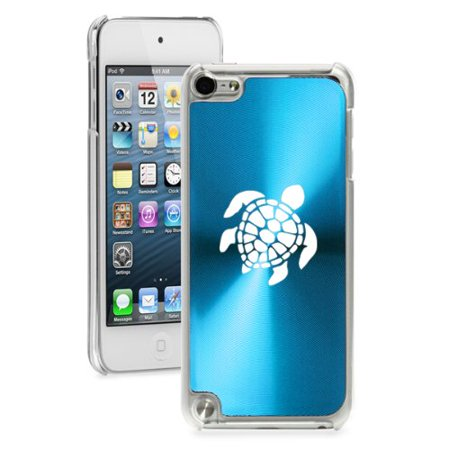 For Apple iPod Touch 5th / 6th Generation Hard Back Case Cover Sea Turtle (Light Blue) ()