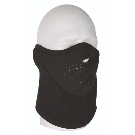 02-9143001000 Fleece Face Mask, Black, Hook and Eye closure By VooDoo Tactical (Voodoo Mask)