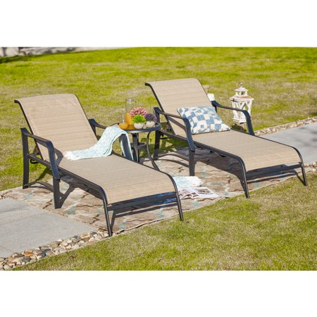 3-Piece Outdoor Lounge Chaise Set ()