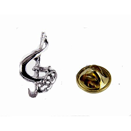 Music Note & Jesus Lapel Pin Music Minister Volunteer Church Choir Lay Minister Clef Note ()