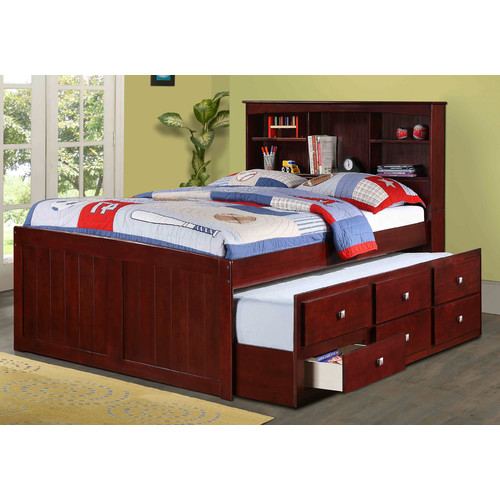 children s captains bed donco captain bed with trundle walmart 11106
