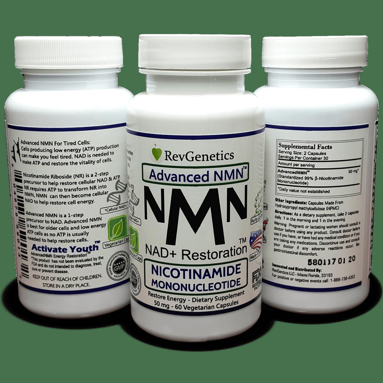 NMN Nicotinamide Mononucleotide Metabolic Repair - The Original NAD+  Booster with a 1 Step Precursor - 60 Capsules - The Original NAD Restorer  From