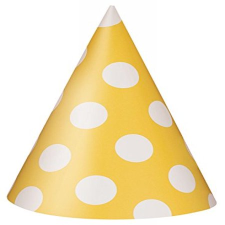 Yellow Santa Hat (Yellow Polka Dot Party Hats,)