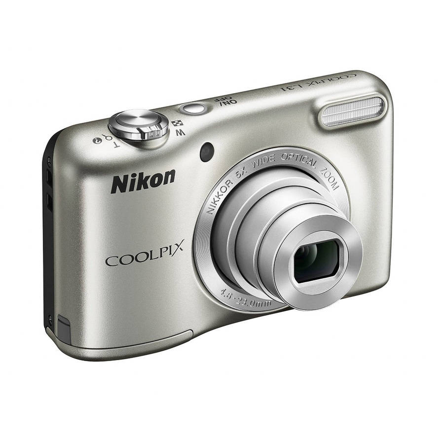 Nikon Silver COOLPIX L31 Digital Camera with 16 Megapixels and 5x Optical Zoom