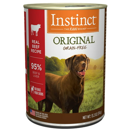 Instinct Original Grain-Free Real Beef Recipe Natural Wet Canned Dog Food by Nature's Variety, 13.2 oz. Cans