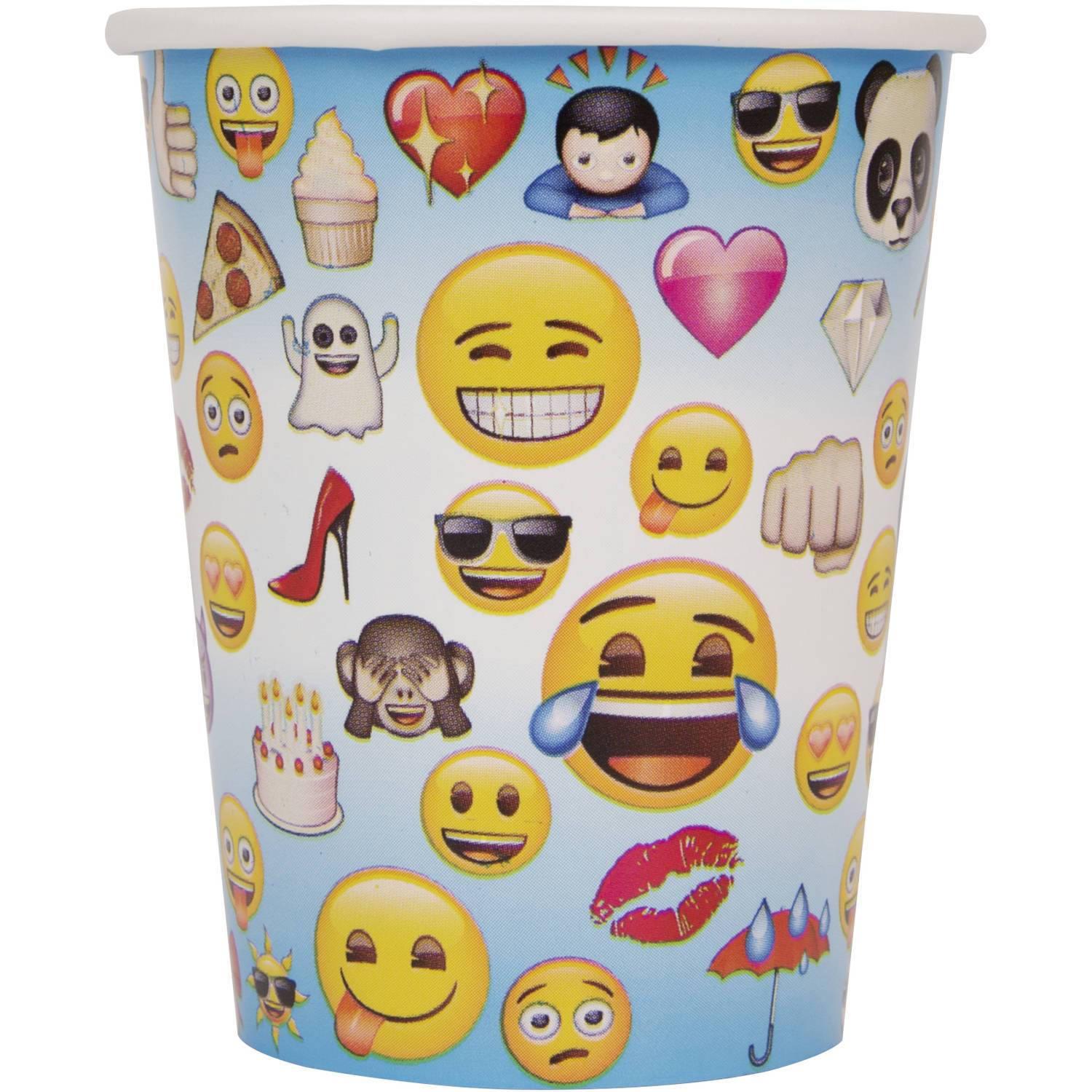 9-Ounce Paper Emoji Cups, 8-Count