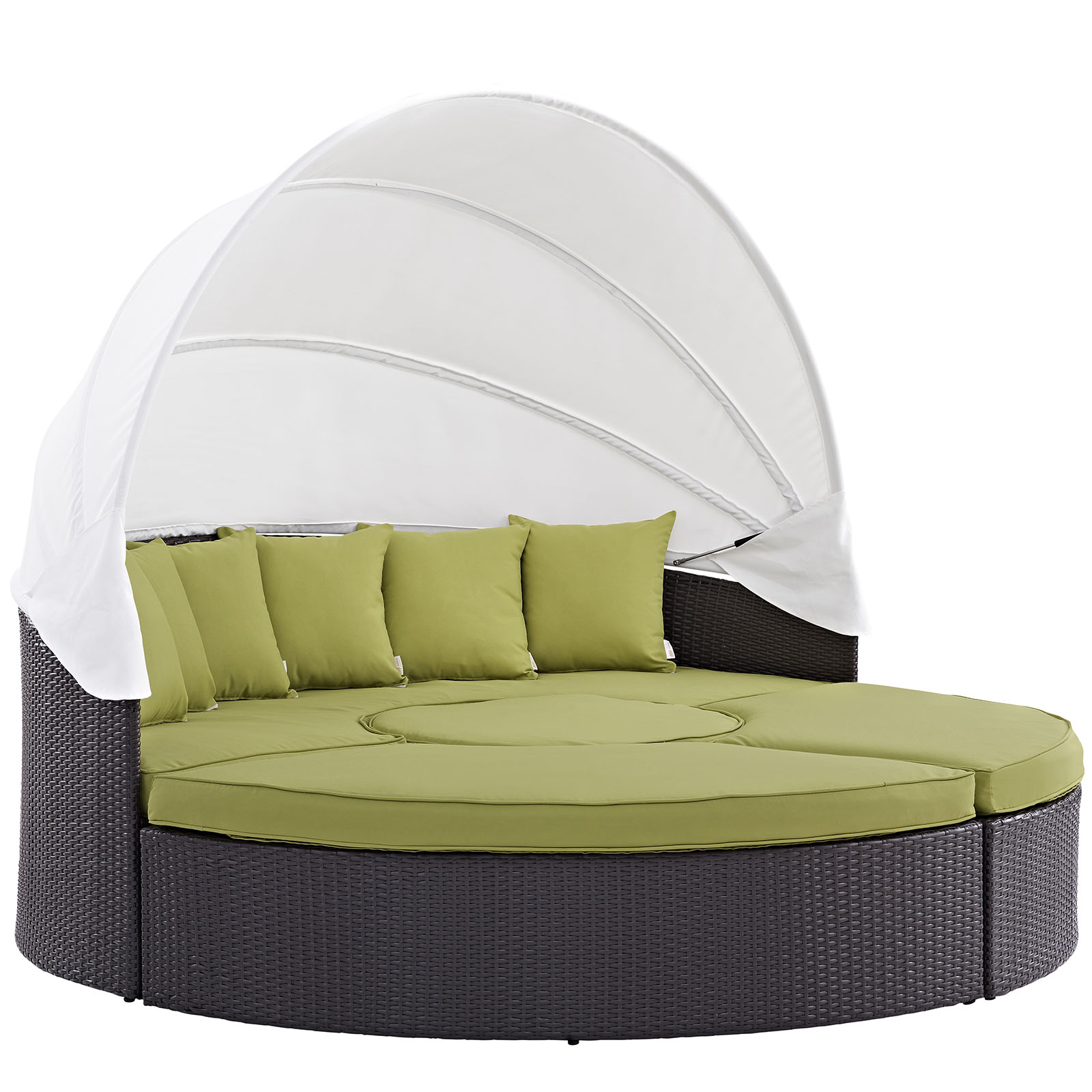 Modway Convene 5 Piece Canopy Outdoor Patio Daybed, Multiple Colors    Walmart.com