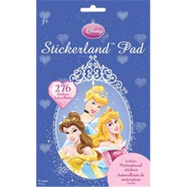 Trends International 203112 Stickerland Pad 9.5 in. x 6 in. 276 Stickers-Disney Princess