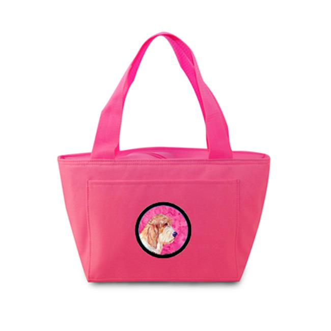 Pink Petit Basset Griffon Vendeen Zippered Insulated School Washable And Stylish Lunch Bag Cooler