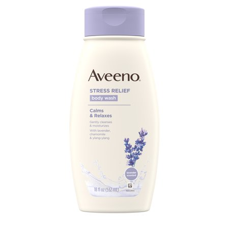 - Aveeno Stress Relief Body Wash with Lavender & Chamomile, 18 fl. oz