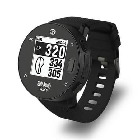NEW Golf Buddy 2018 Voice X With Wristband Golf Watch GPS Audio Distance Black