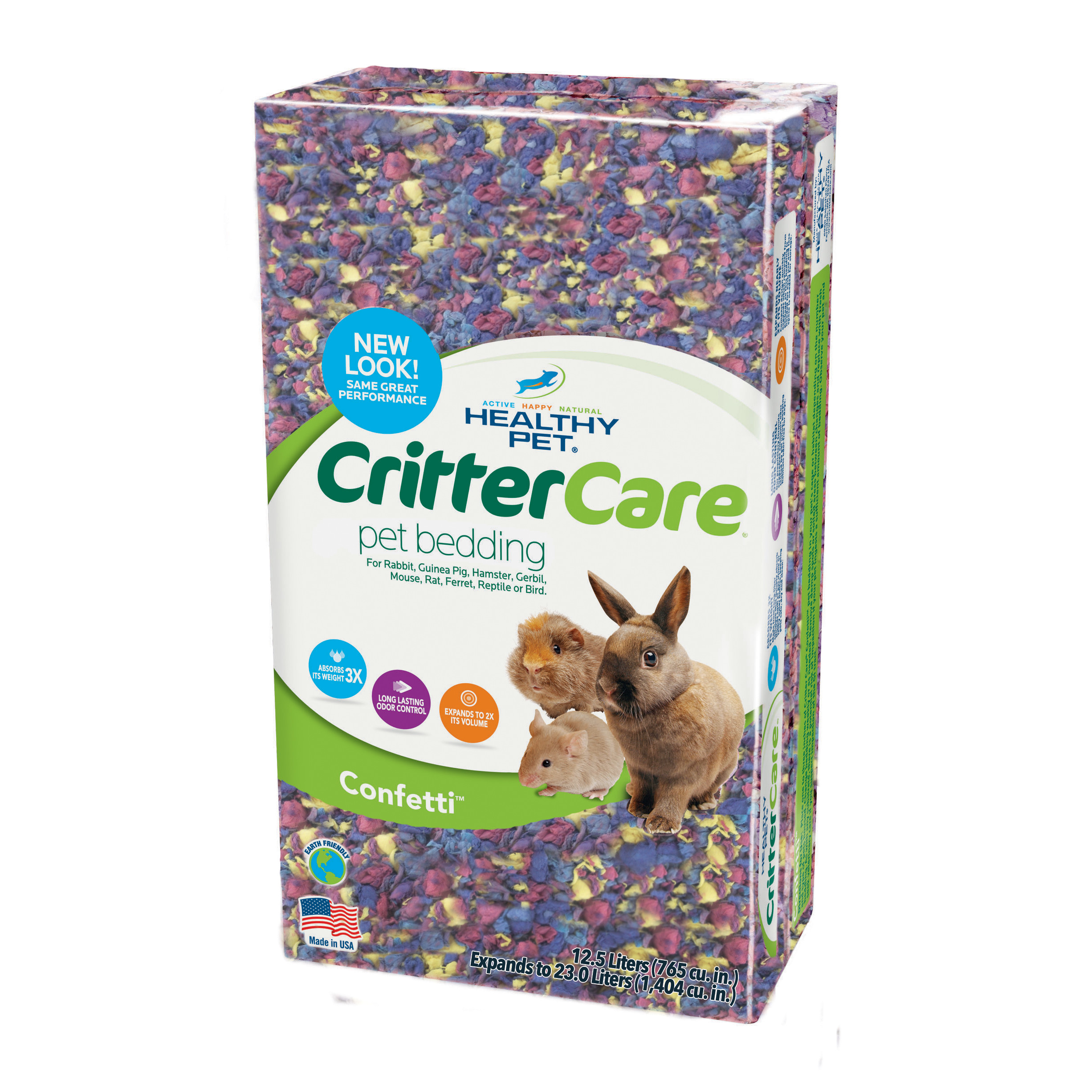 Healthy Pet CritterCare Confetti Bedding, 23L