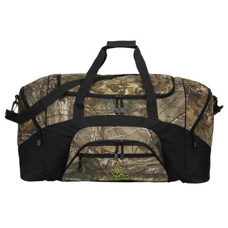 Camo Duffle Bag (Camo Don't Tread on Me Duffle Bag Or RealTree Camo Don't Tread on Me Gym)