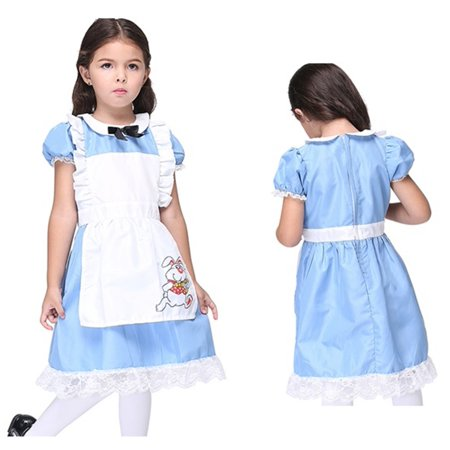Alice In Wonderland Costume Age 10 (Girl's Alice Wonderland Halloween Costume)