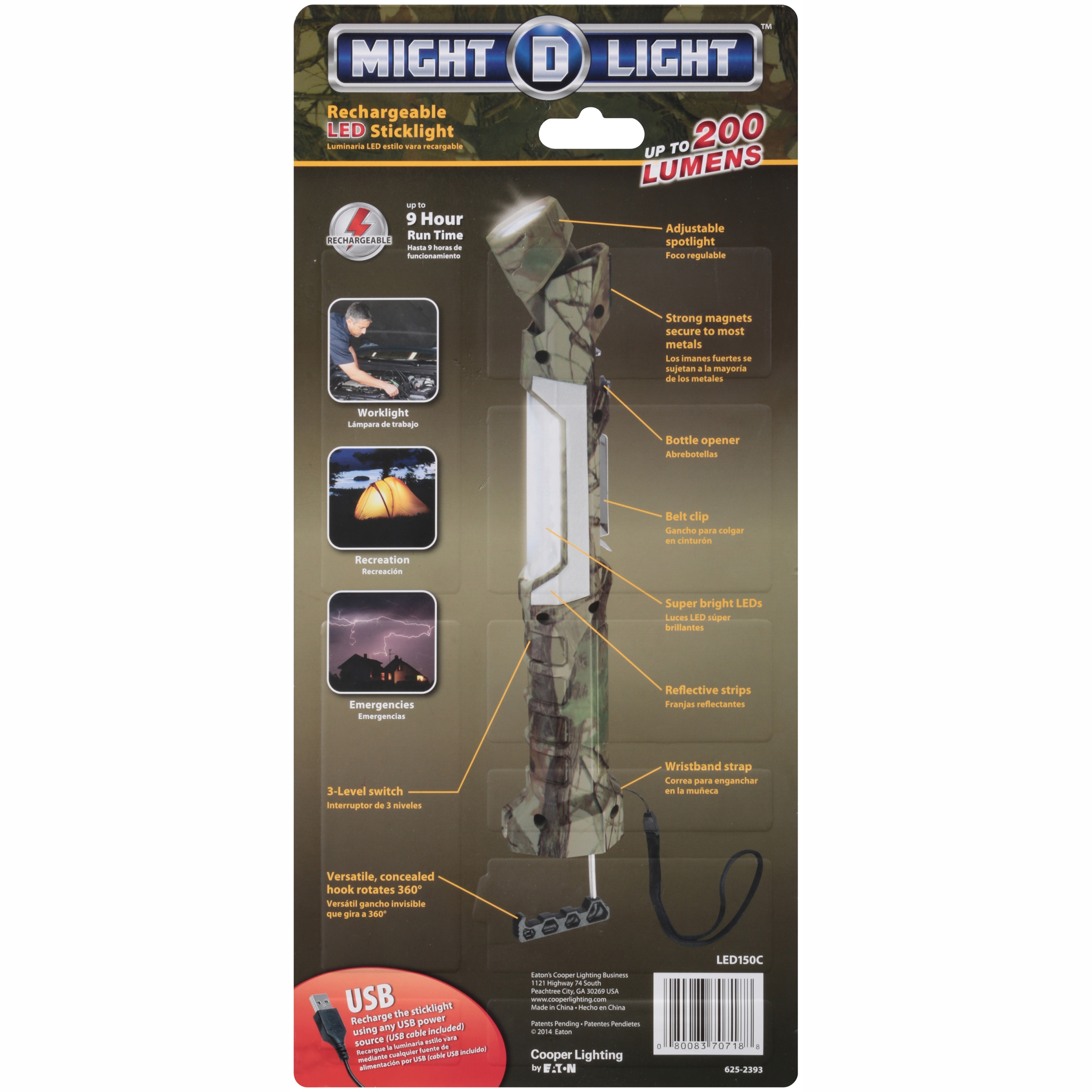 Cooper Lighting Might-D-Light Rechargeable LED Stick Light - Walmart.com  sc 1 st  Walmart & Cooper Lighting Might-D-Light Rechargeable LED Stick Light ... azcodes.com