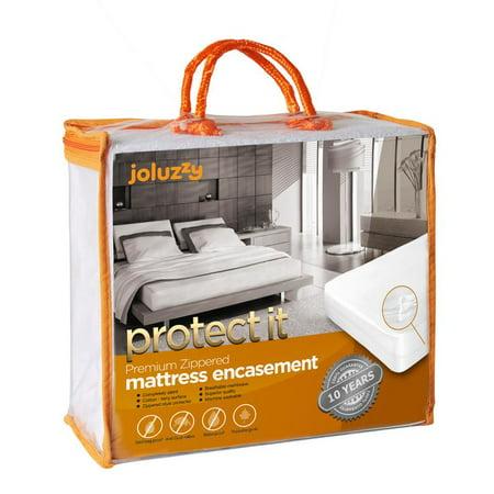joluzzy Zippered Mattress Protector - 100% Bed Bug Proof / Waterproof Six-Sided Mattress Encasement - Cotton Terry, Breathable, Noiseless, Hypoallergenic, Vinyl-Free, King Size ()