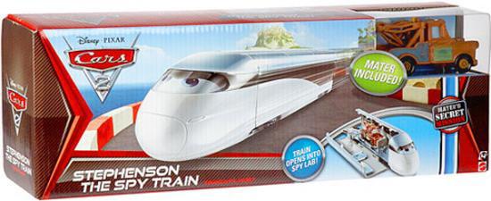 Disney Cars Cars 2 Stephenson The Spy Train Diecast Car Playset by Mattel