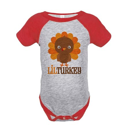 Custom Party Shop Baby Boy's Little Turkey Thanksgiving Onepiece - 6 Month Onepiece - Custom For Baby