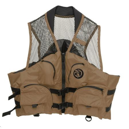 - Deluxe Mesh Top Fishing Vest, 4XL-6XL, Bark