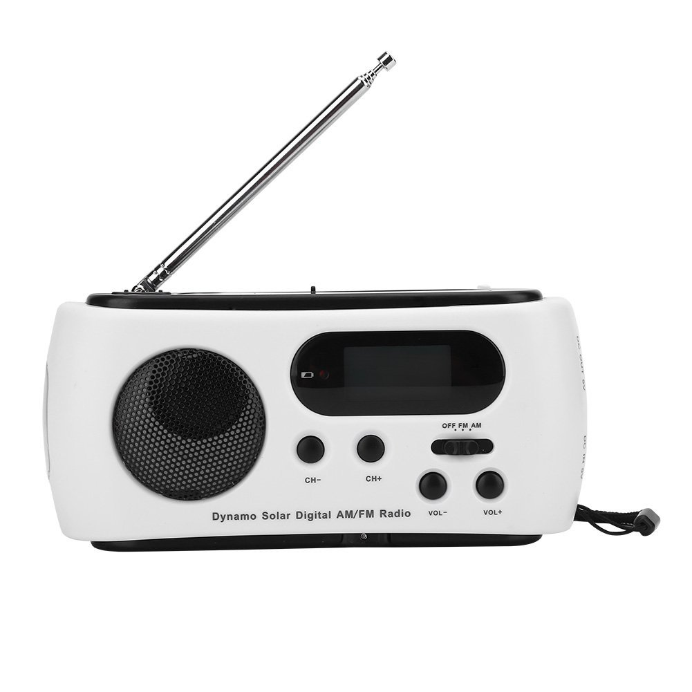 Emergency Radio Portable Solar Power Hand Crank AM FM Radio with LED Flashlight Emergency Phone Charger by Yosoo