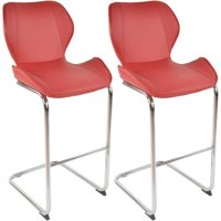 Best Master Furniture Tufted PU Leather Counter Height Bar Stool, Set of 2, Multiple Colors Available