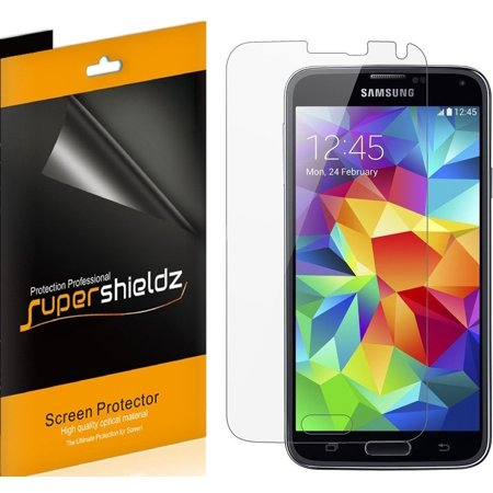 [6-pack] Supershieldz for Samsung Galaxy S5 Screen Protector, Anti-Bubble High Definition (HD) Clear Shield ()