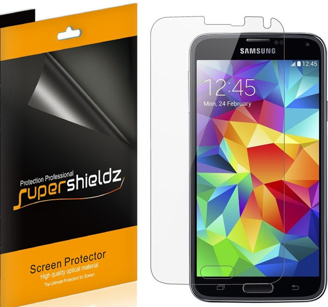 [6-pack] Supershieldz Samsung Galaxy S5 Screen Protector, Anti-Bubble High Definition (HD) Clear Shield
