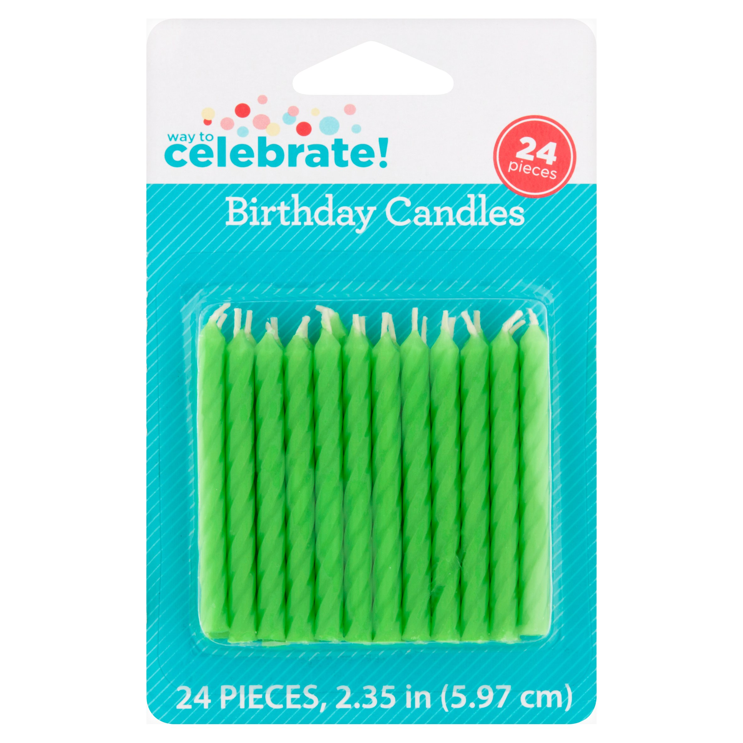 (4 Pack) Way to Celebrate Birthday Candles, Lime Green