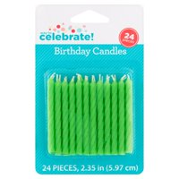 Product Image 4 Pack Way To Celebrate Birthday Candles Lime Green